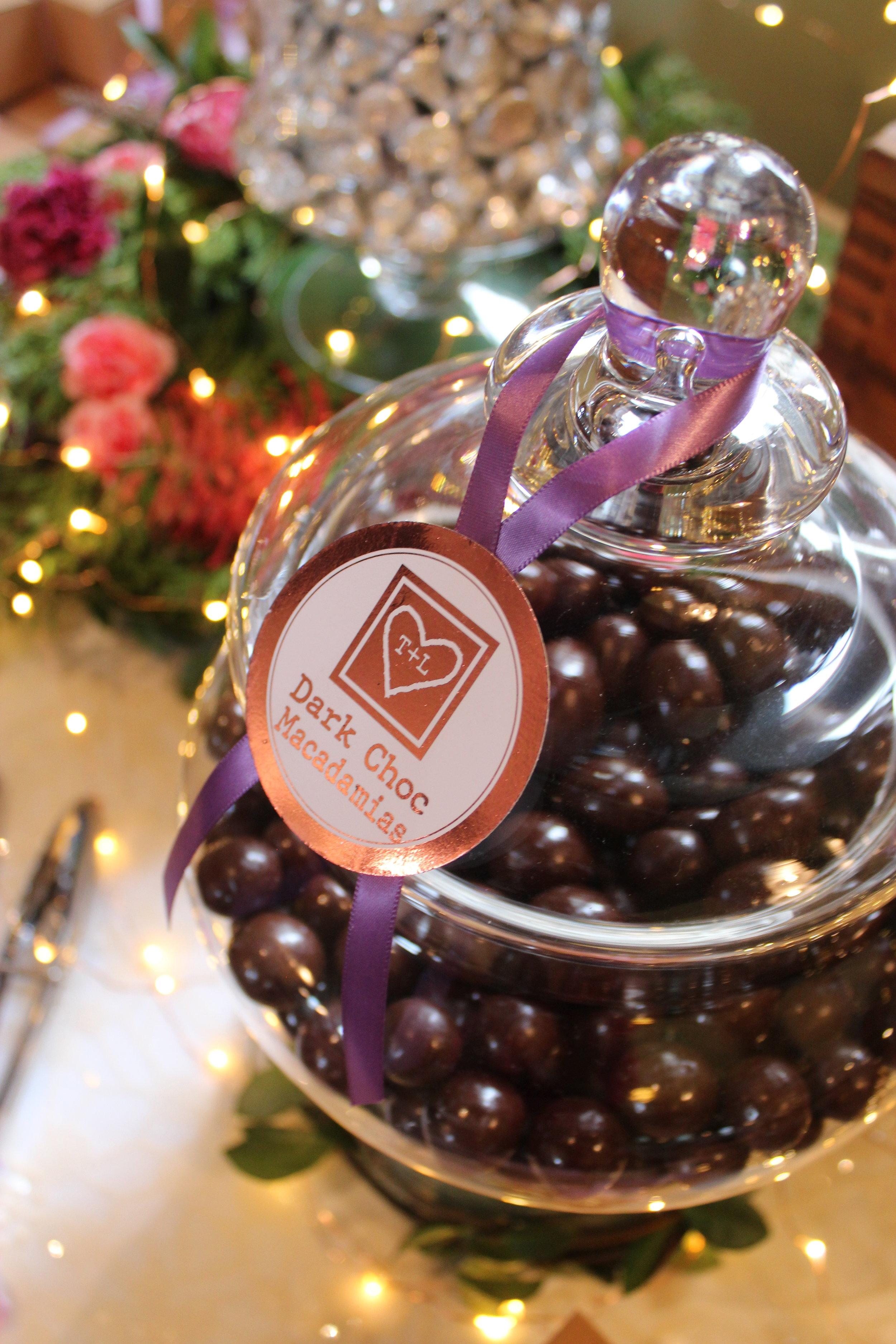 Dark Chocolate coated Macadamias
