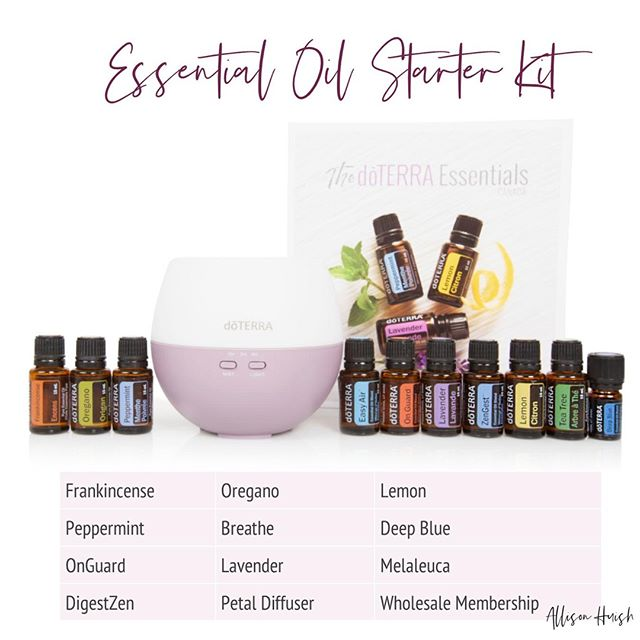 A super sweet girl that I met a Church on Sunday sent me a text today asking me how to get started with oils and which oils to purchase. This is the kit I recommended she get. It includes the top 10 oils, a diffuser and also a wholesale membership.  If you're ready to join us and this oily adventure the link to this kit is below! Plus with this kit you'll be invited to my VIP groups where you can receive 24/7 support and 1-on-1 mentoring with me too!  Purchase Kit Here ➡️ http://bit.ly/2UtzL5M . .  #blessed #essentialoil #essential #doterra #aromatherapy #jobopportunity #healthytips #holistic #braintumor #sahm #natural #skin #happy #youngliving #instagood #healthy #natural #kids #oils #oil #love #detox #doterra #healthytips #naturalliving #livenatural #photooftheday #essentialoils #allisonhuish