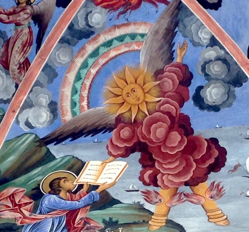 Angel detail, Rila Monastery