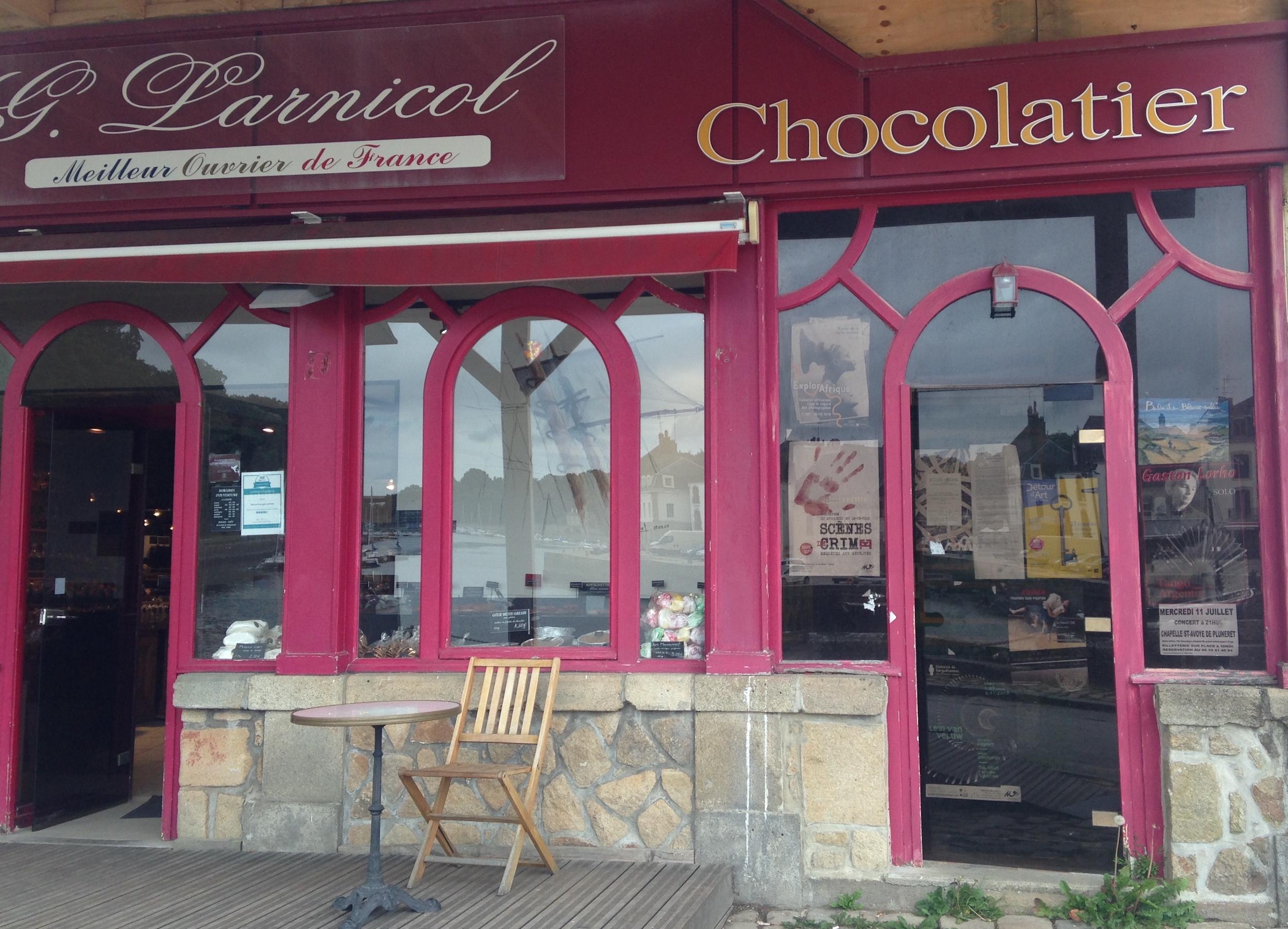 Une petitie chocolaterie in Bretagne, France