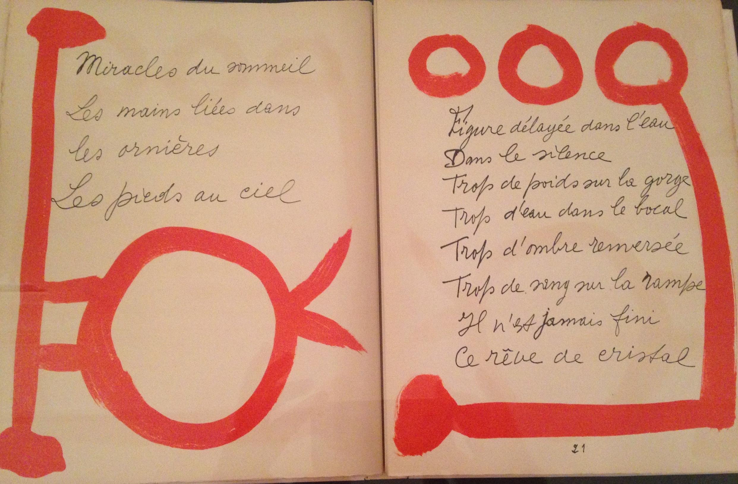 Picasso's artist book Les Chants des morts, 1948.