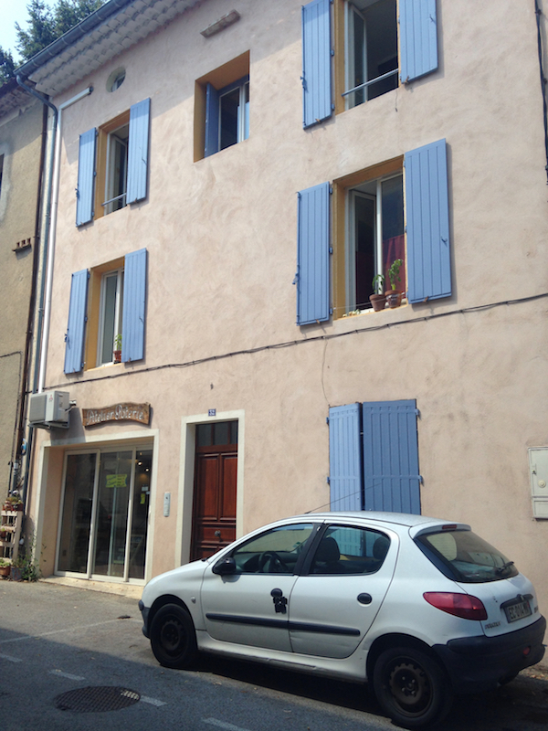House with blue shutters, Lasalle