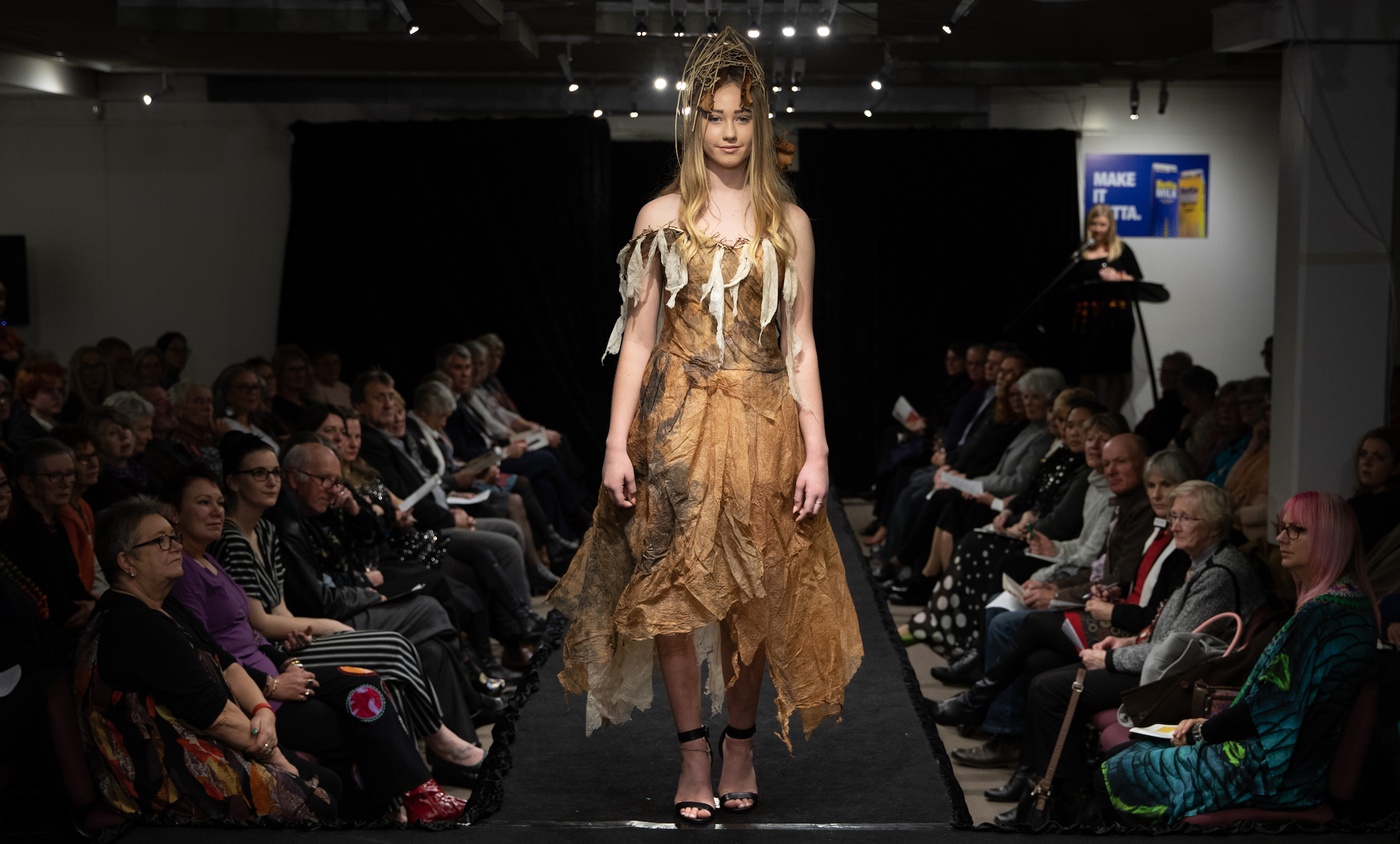 Flood  by Anne Leon and Heather Matthew on the runway for  Paper on Skin  2018. Image courtesy Grant Wells Photos.