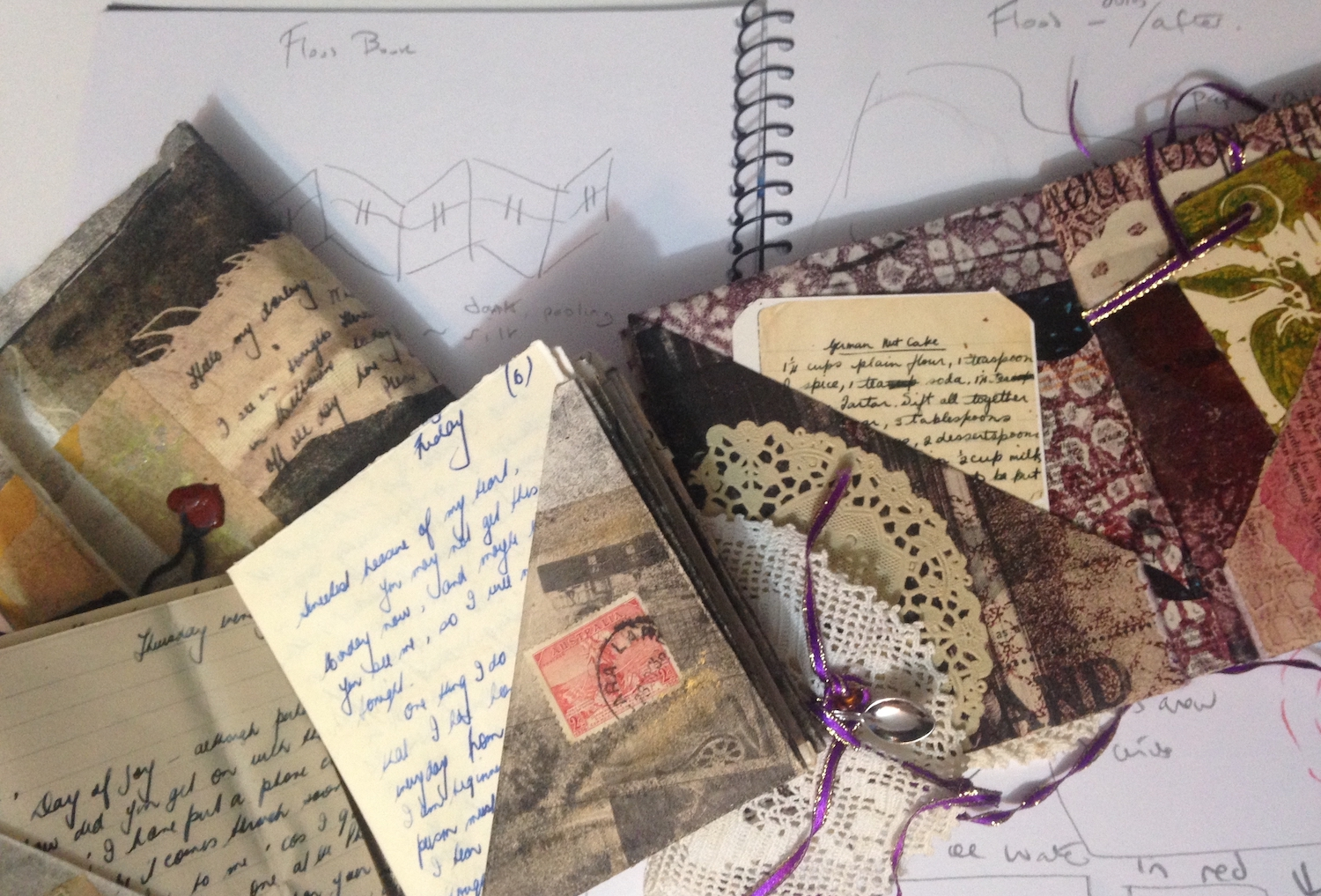 Passionate Posts  &  Tried and Tested , two artist books I made to honour my parents' collections.