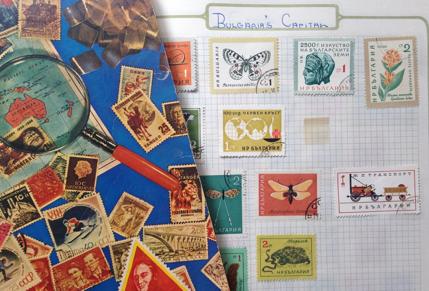 My stamp collection - a source of working inspiration - maybe a future project….
