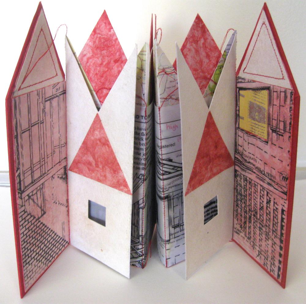 All the Pretty Houses - artist book (unique), 2015