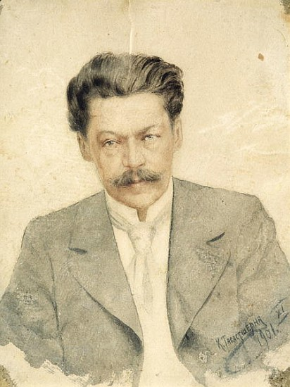Anton Stepanovich Arensky (1861-1906), pictured here sporting identical mustaches as  Scriabin  and  Roslavets .