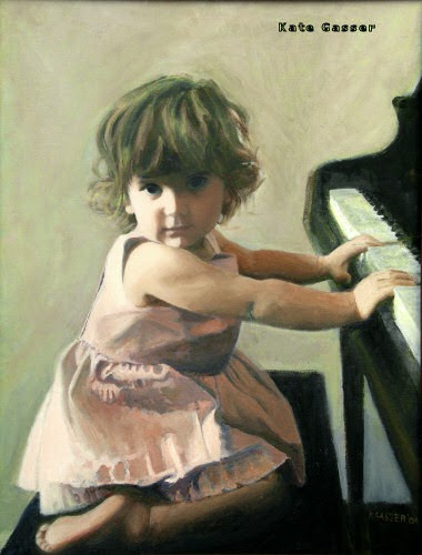 Kate Gasser's  Young Girl at Piano . And approachable performance.    Image source