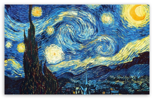 Van Gogh's The Starry Night  (1889) —all a swirl.