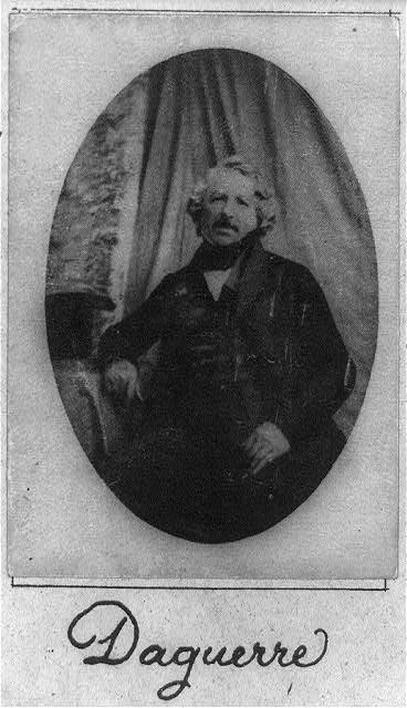 Louis Daguerre, Library of Congress.
