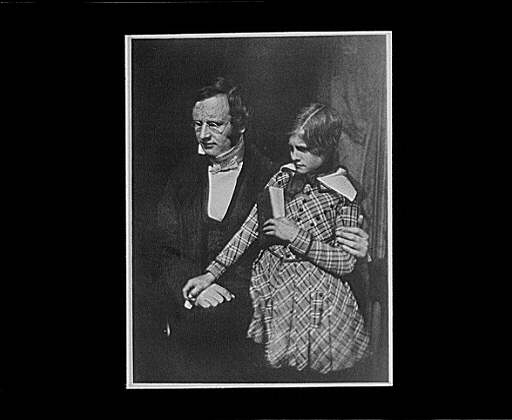 Calotype, Father with his Son, Library of Congress.