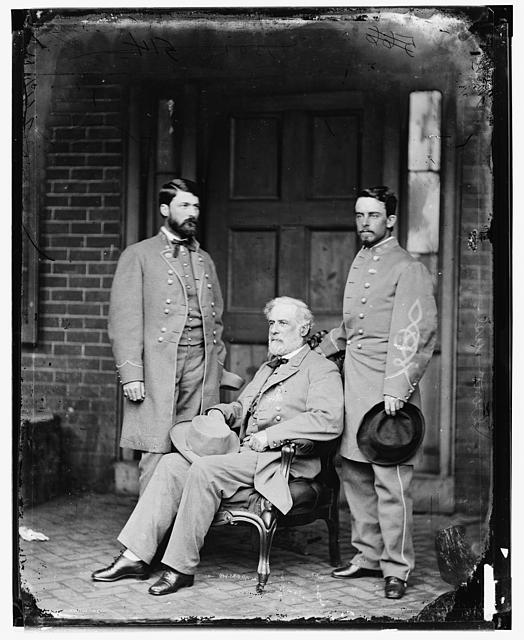 Wet-collodion process, General Robert E. Lee and Sons, Library of Congress.
