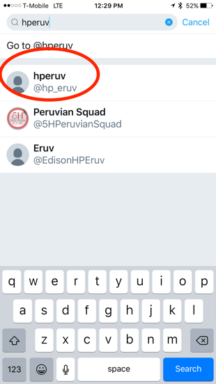There's the account -  @hp_eruv ! We don't know who setup  @EdisonHPEruv,  but it's a dead account.