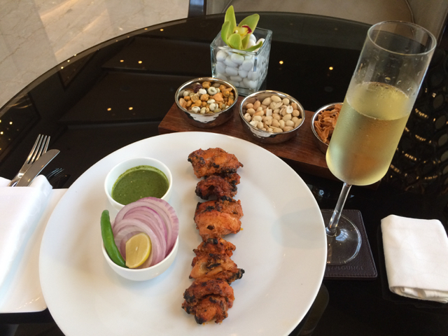Grover Zampa's Sparkling Chenin with this spicy chicken was a wonderful combination.