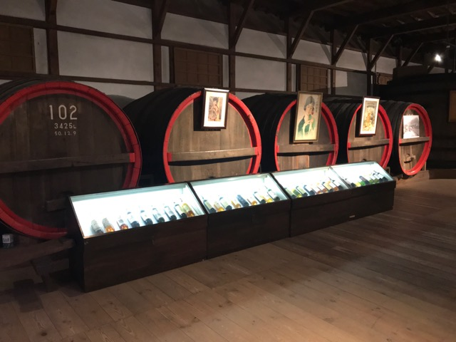 Some of the many artifacts on display at a regional wine museum.