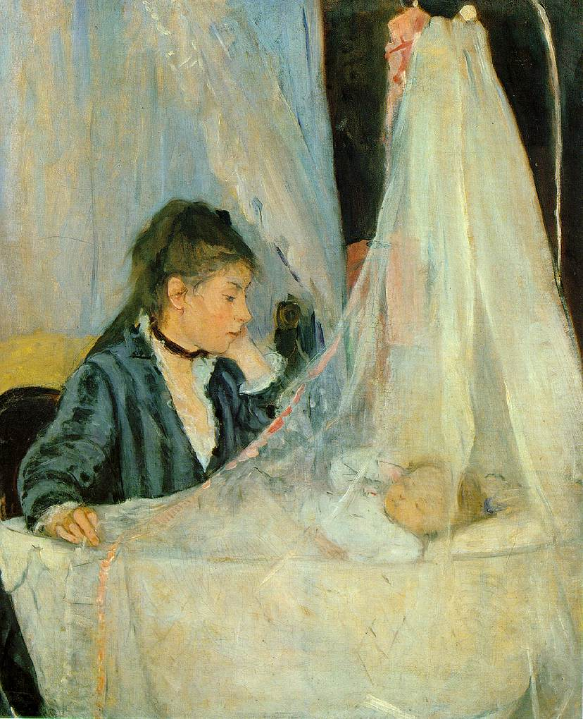 "Berthe Morisot (the subject of Manet's painting we used on our label) was also an accomplished artist. ""The Cradle"" is one of her works."