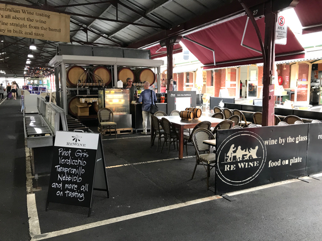 ReWine is located in the Queen Victoria Market in Melbourne.