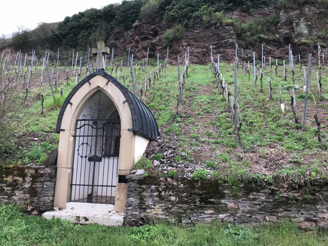 If we had to work an honest day in these vineyards we'd also want a place to sit down and pray (or possibly die).