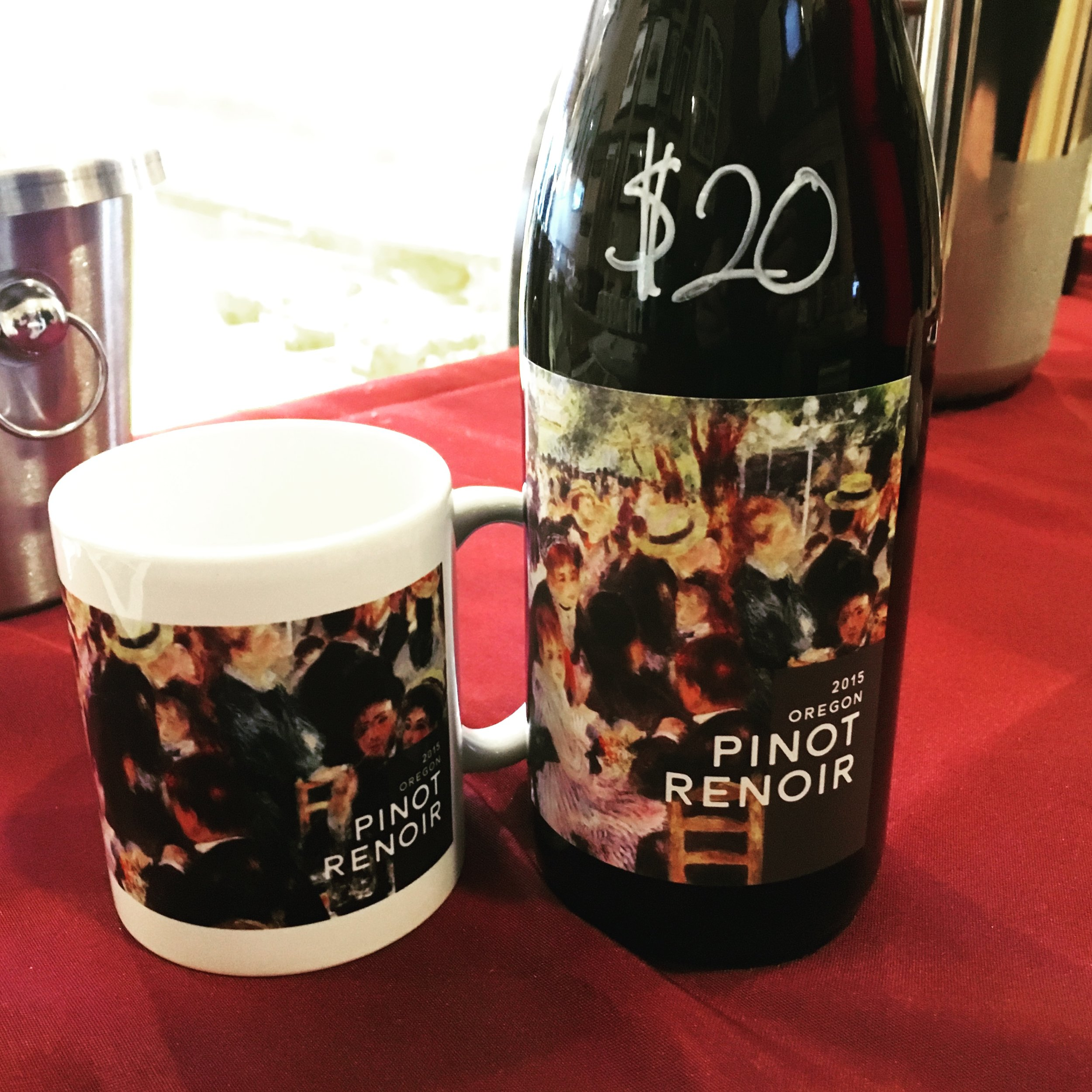 We often bring our wine mugs to tastings. Because it's nobody's business what's in your cup.