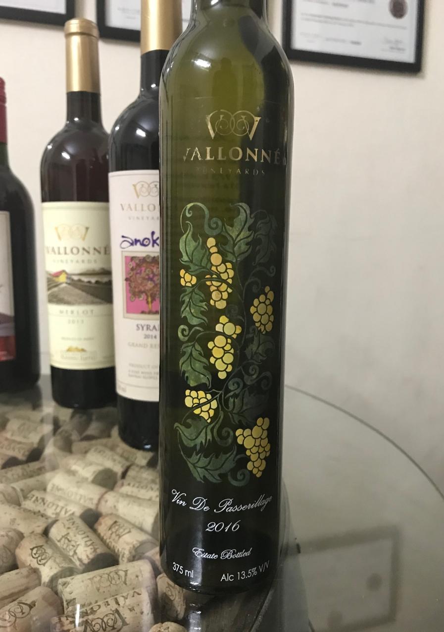 Vallonné's very full-flavored dessert wine.
