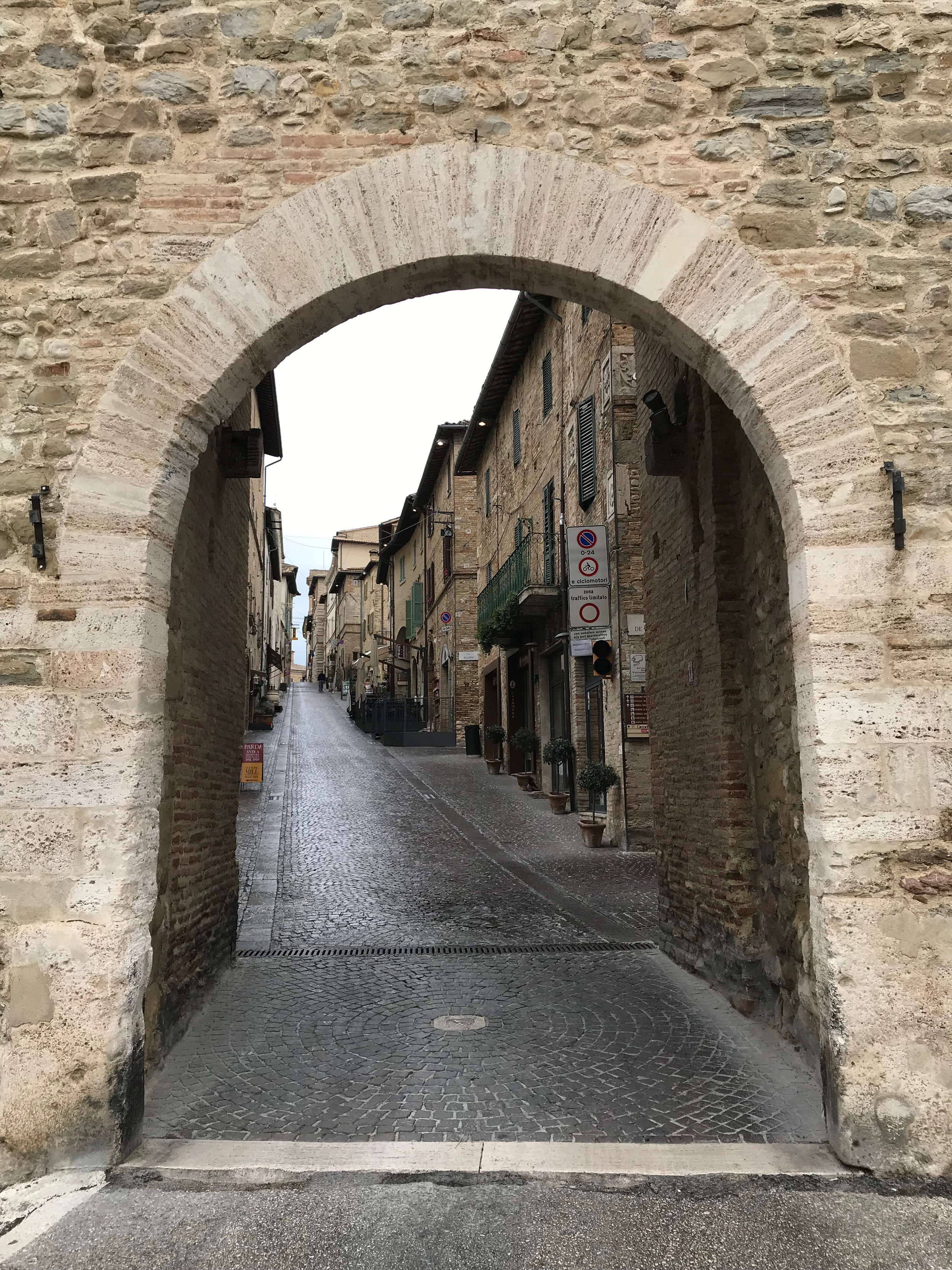 An ancient city entrance (still used by cars today).