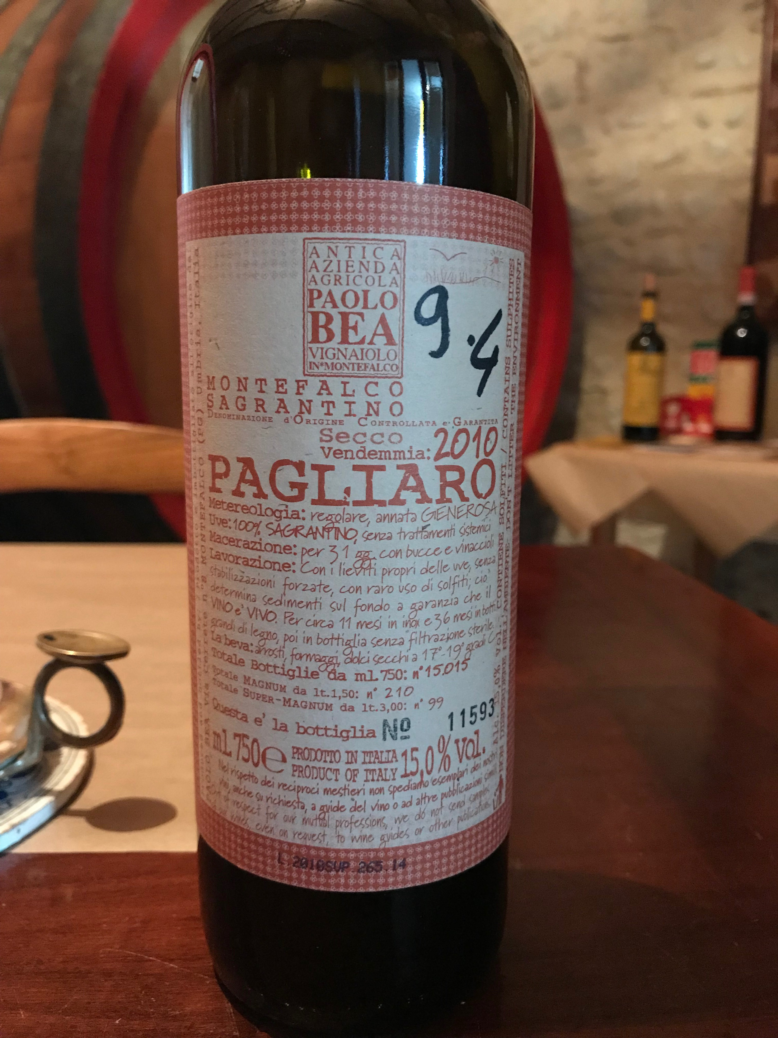 Already 9 years old, this 100% Sagrantino still packs a wallop.