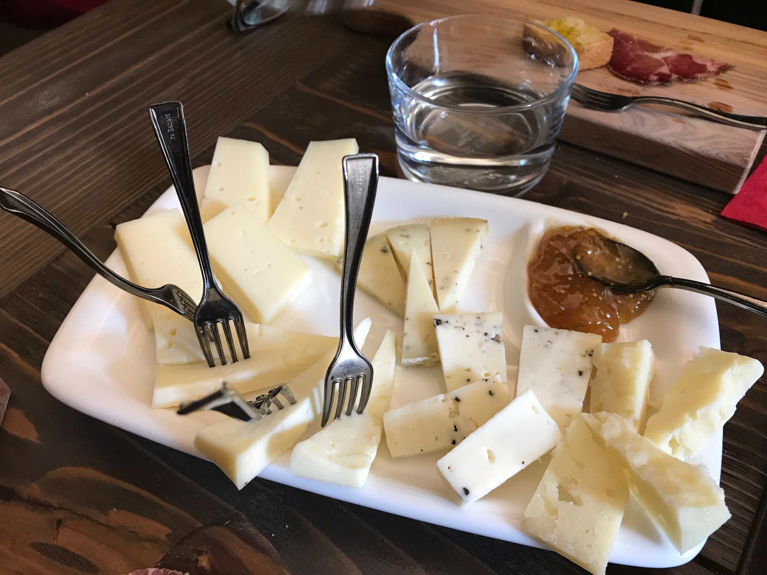 Umbria is (rightfully) proud of its many local cheeses.