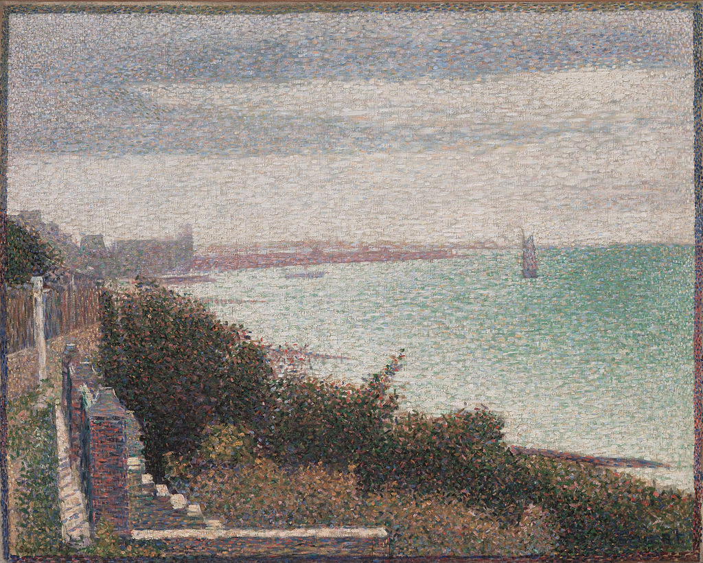 "One of Seurat's experiments with ""chromoluminarism,""  Grandcamp, Evening ."