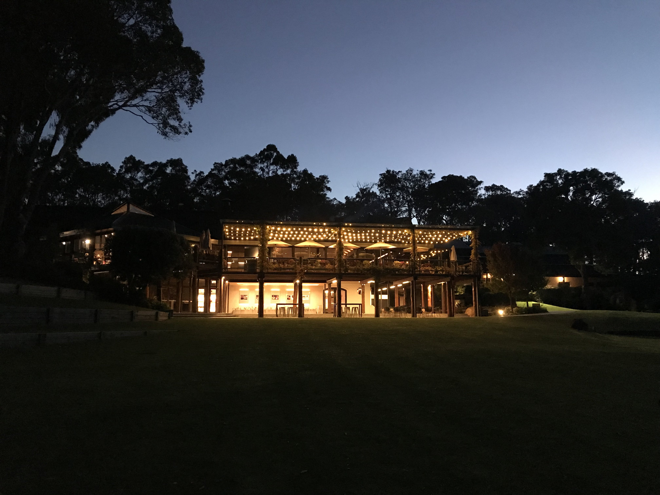 It's almost dinner time at Leeuwin Estate.