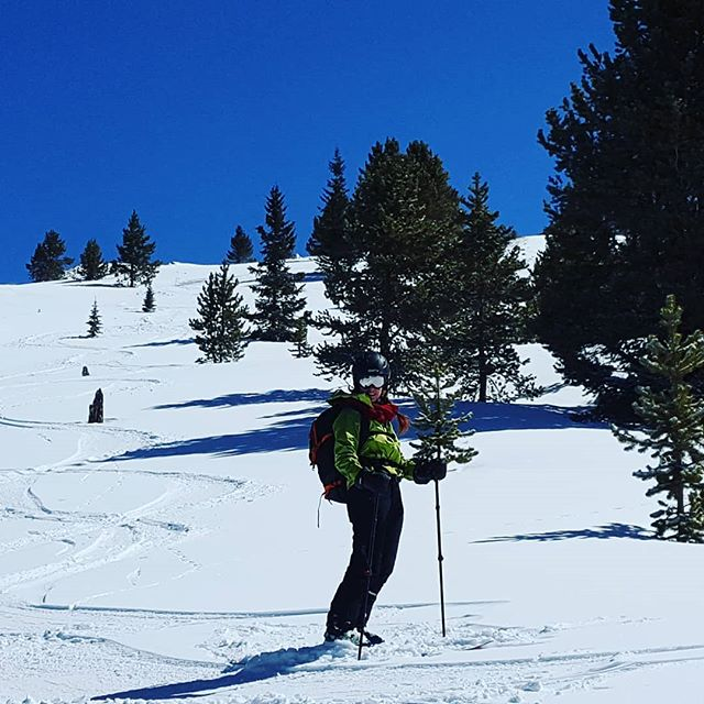 Perfect conditions earlier this week for Sarah's first ever backcountry ski trip. Low wind and fresh powder on top! #springskiing #BVBackcountry  #BuenaVistaCO