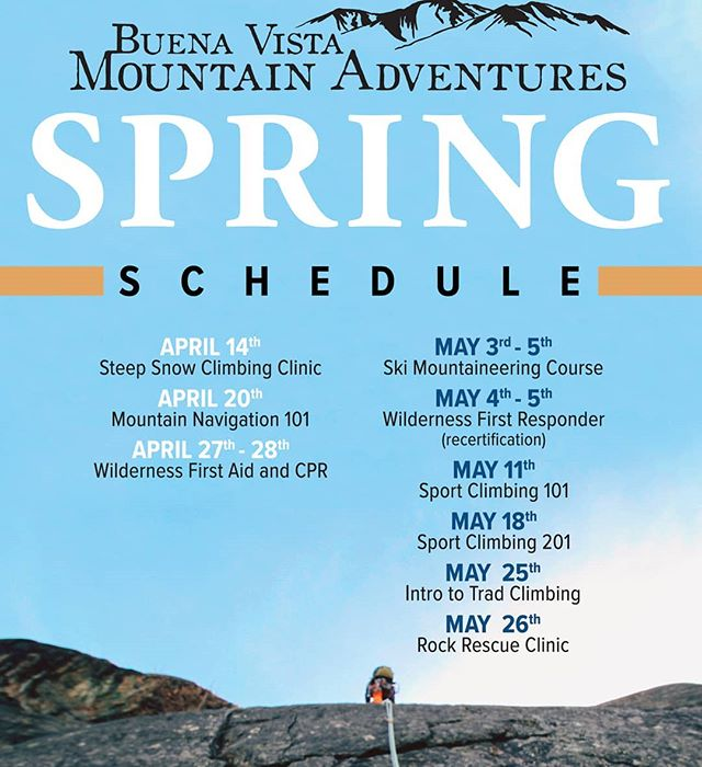 Our Spring Course schedule is set! Join us for exceptional outdoor education and adventures. Learn more or register today at bvmountainadventures.com.
