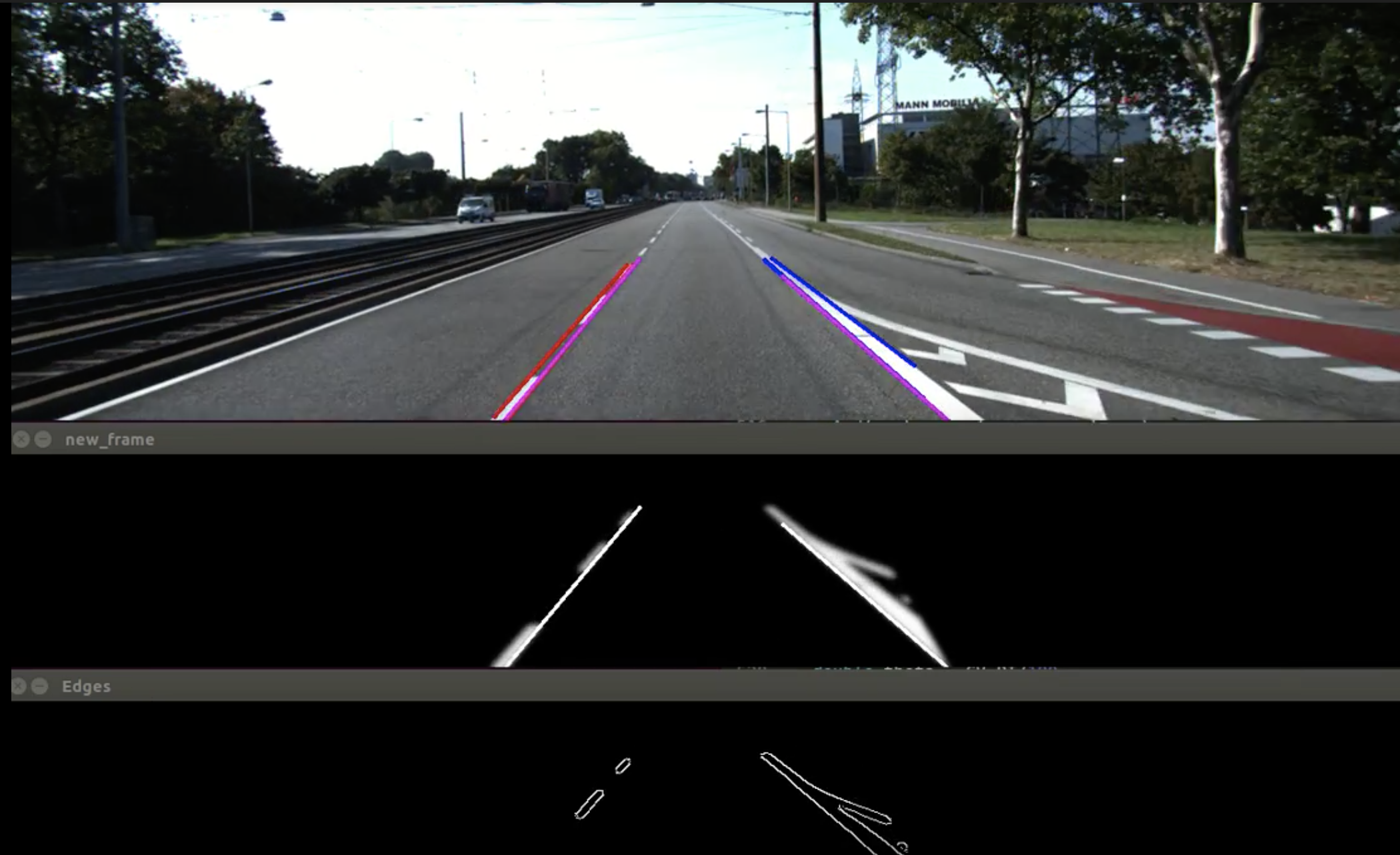 Cameras beings used to detect lanes