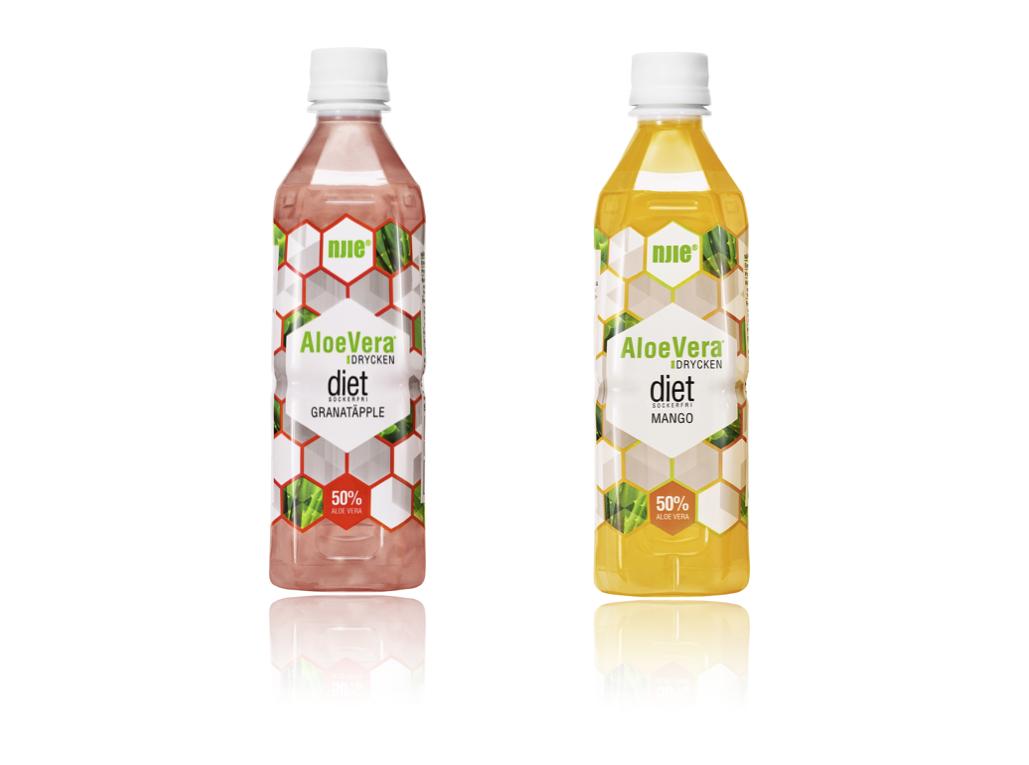 AloeVera tooted - Suhkruvaba ja sisaldab 50% Aloe Vera Barbadensist2 maitset: granaatõun ja mango