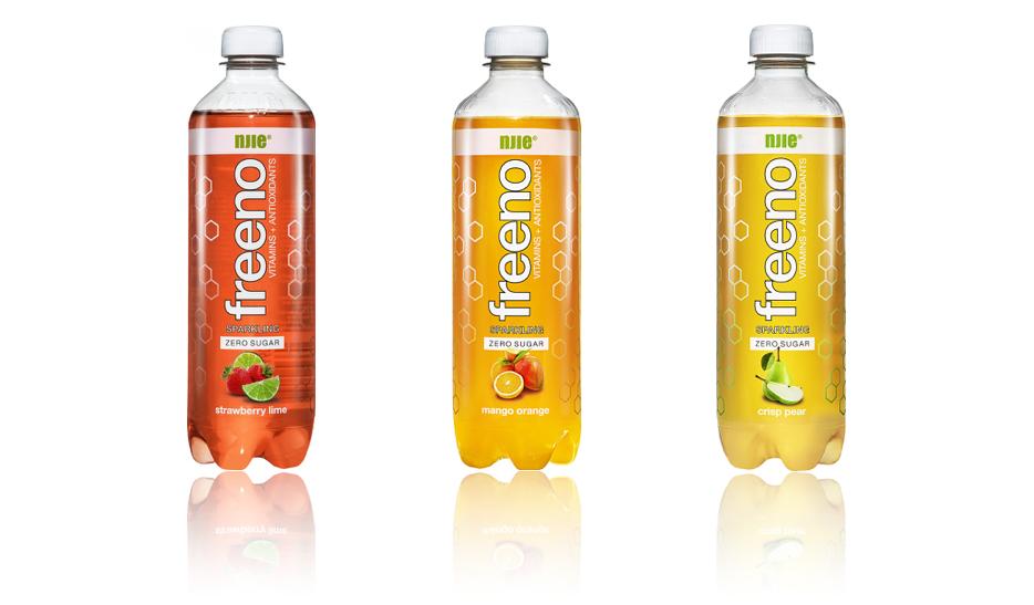 Freeno suhkruvaba limonaad - Vitamiinid ja antioksüdandid, 0g süsivesikuid. 500 ml = ainult 10 cal3 maitset: maasikas-laim, mango-apelisn ja krõbe pirn