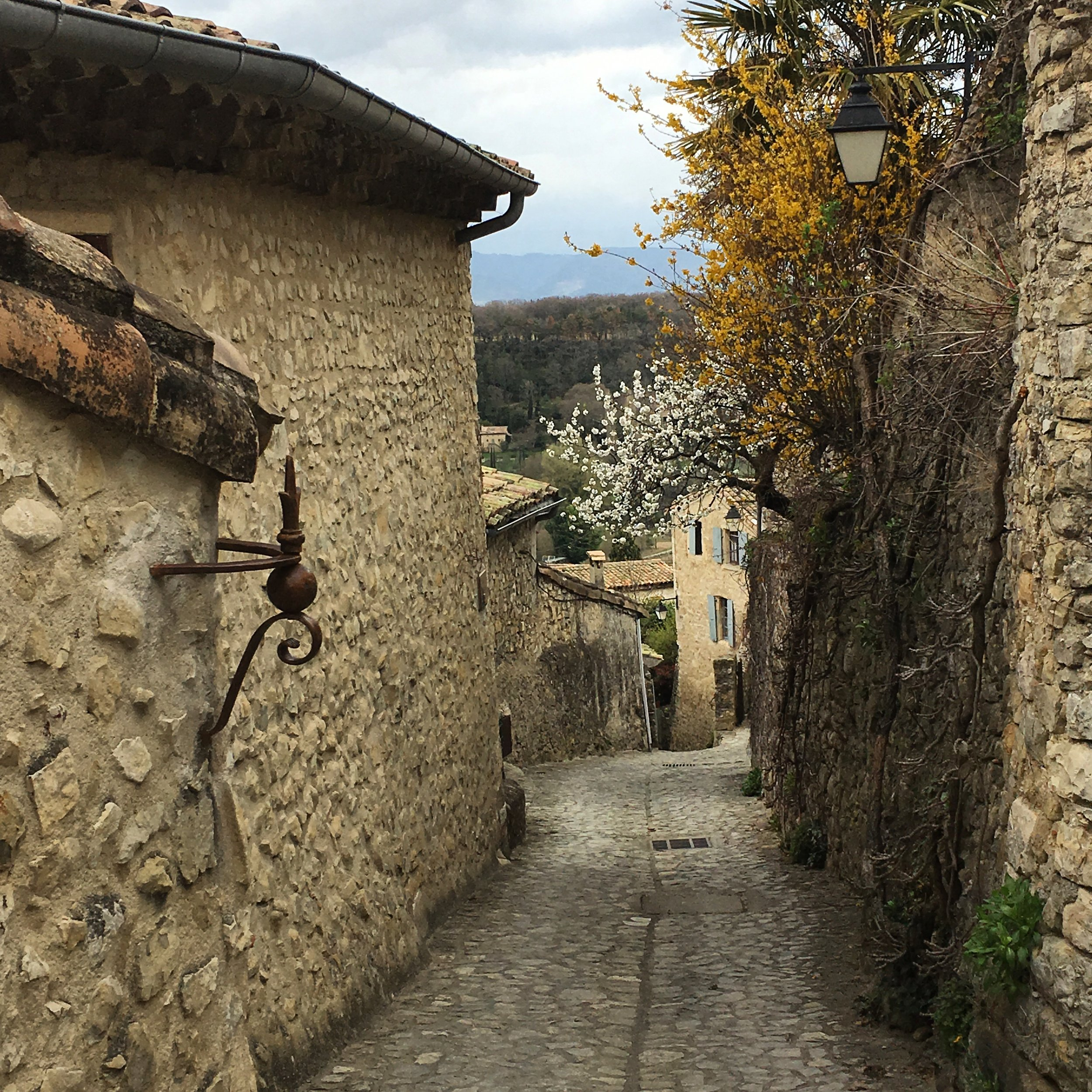 Walking the beautiful cobble stone streets of Mirmande in Drôme, France last month.