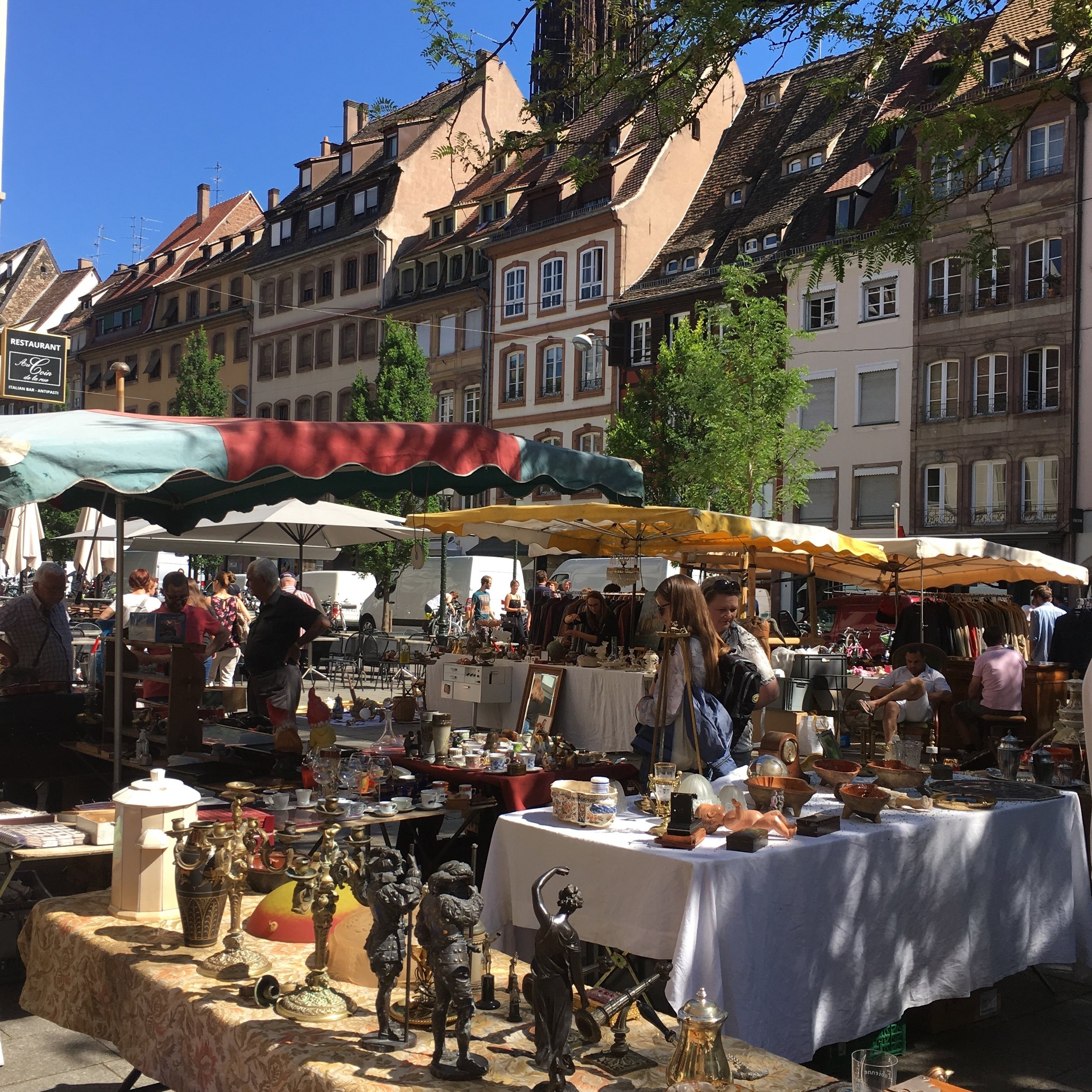 You can find a lively brocante each Wednesday and Saturday morning in Strasbourg. Here is where I hunt for all my Alsatian treasures. I know the vendors and it is a morning of socializing as much as it is hunting for the perfect finds for my online shop.