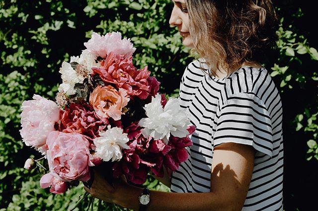 Nos pivoines attendent d'être cueillies et arrangées selon votre créativité ! Laissez libre cours à votre imagination ! 🌸🌸🌸 — Un petit coup de pluie vient de les arroser, elles sont fraîches pour êtres coupées ! ☀️ — #milleetunefleurs #pivoines #swissflowers #créativité