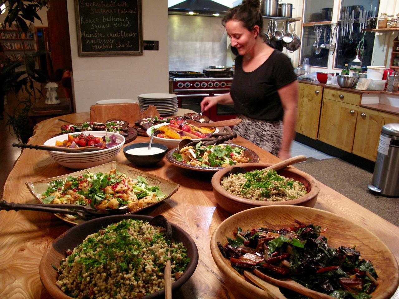 Yoga Explorers yoga retreat in Scotland - organic vegetarian and vegan food