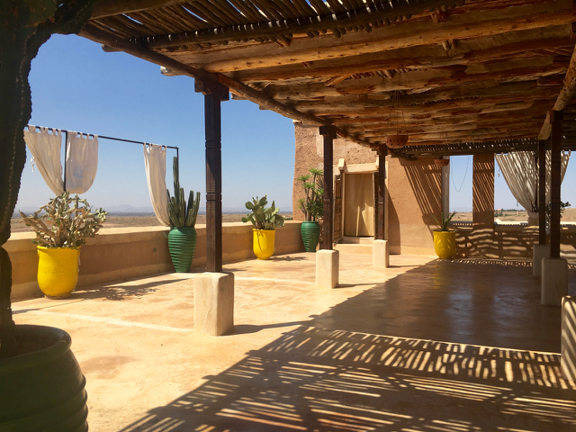Yoga Explorers yoga holiday in Morocco - rooftop yoga terrace