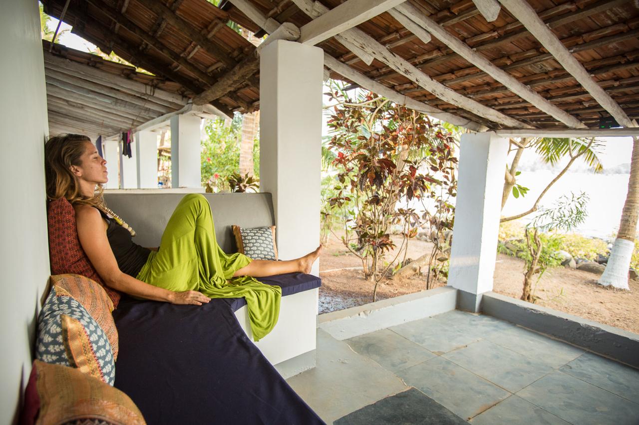 Yoga Explorers yoga holiday in South Goa - private veranda