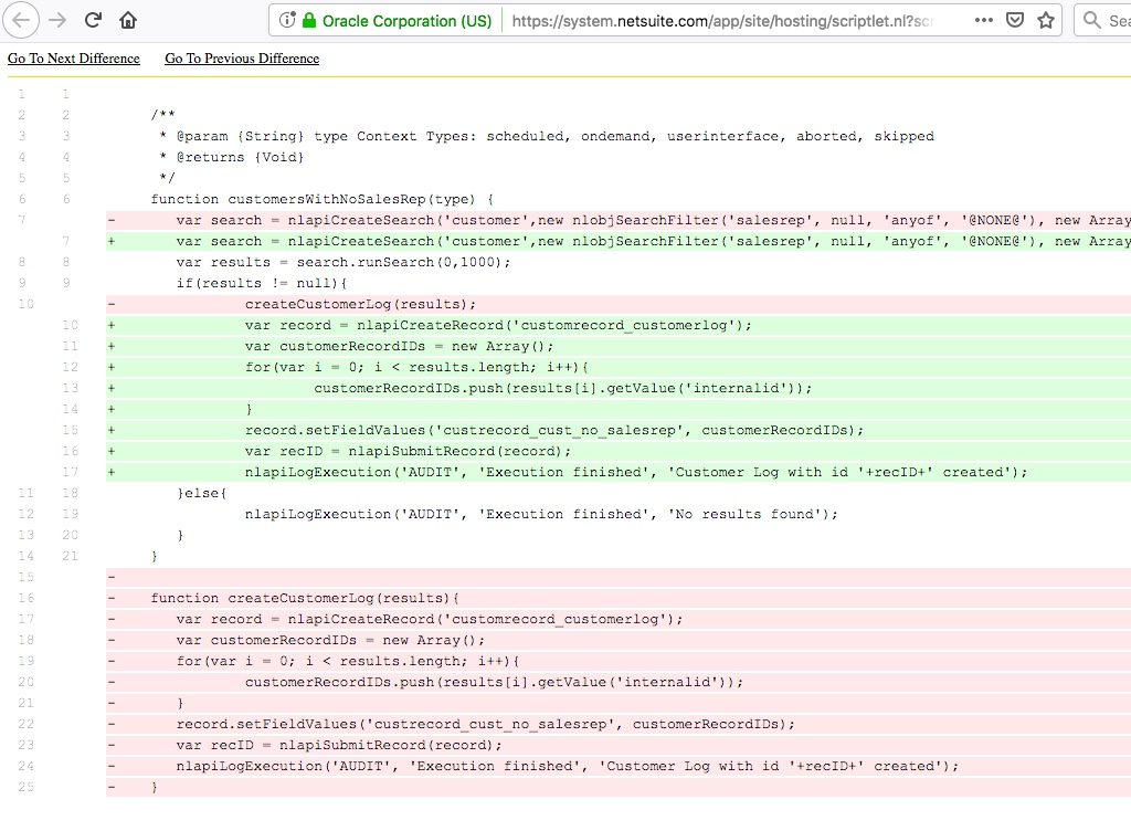 Compare code in seconds across environments with Strongpoint environment comparison.