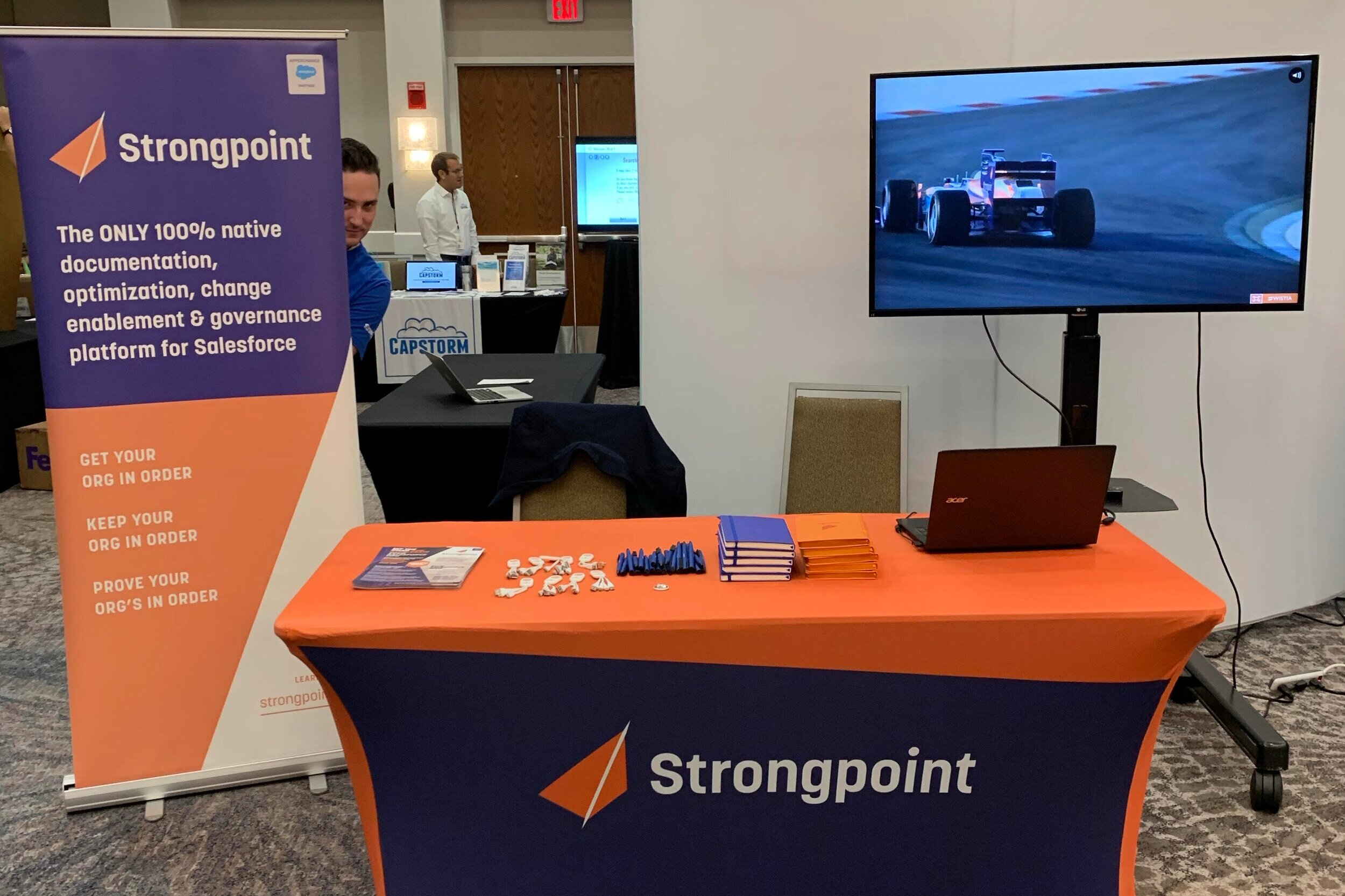 The Strongpoint booth