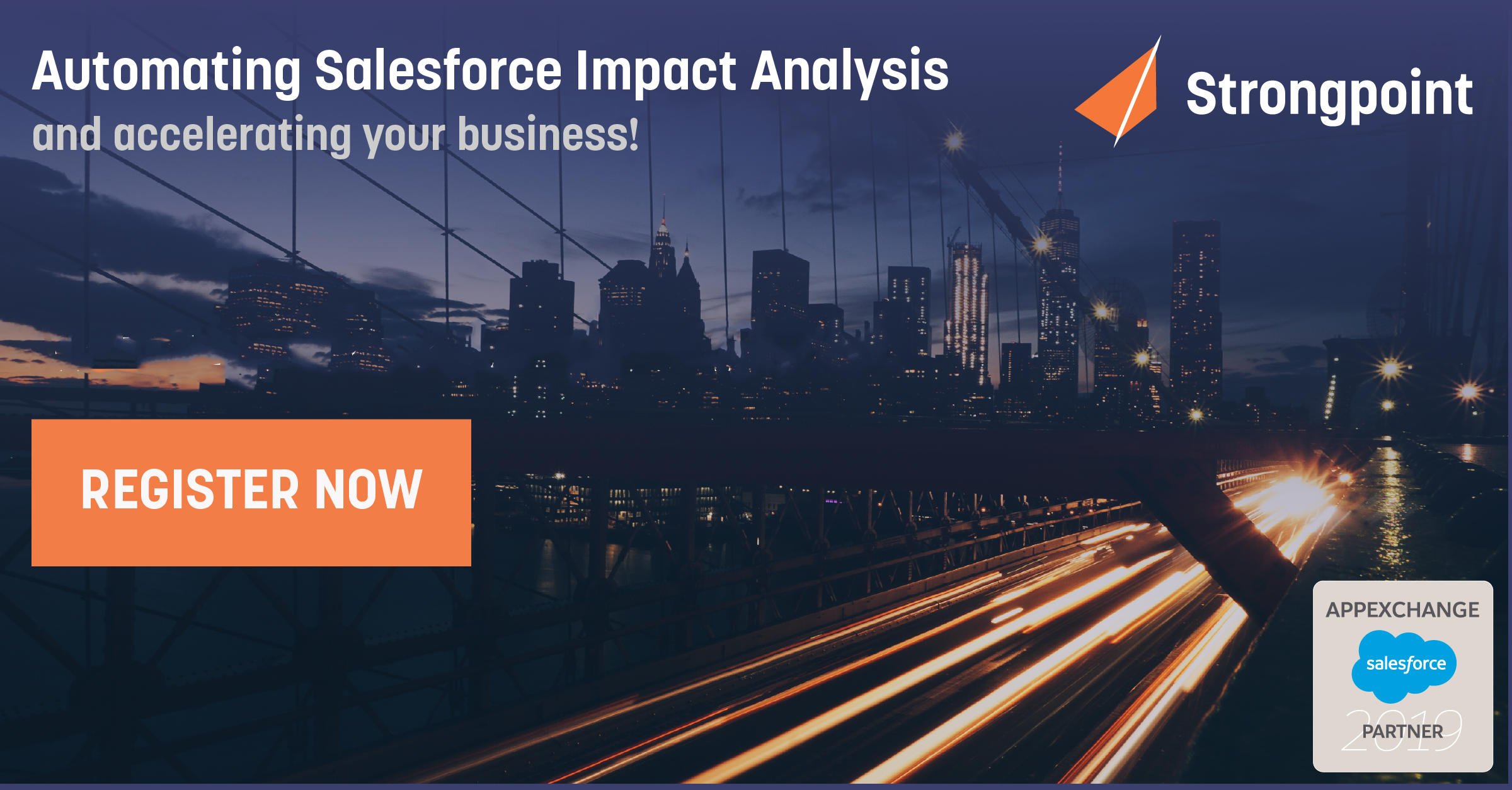 Automate Salesforce impact analysis — and accelerate your business - Strongpoint's documentation and impact analysis features for Salesforce are some of the most powerful tools in a successful admin's toolkit. On September 19, we're hosting a free webinar where you can see them in action.