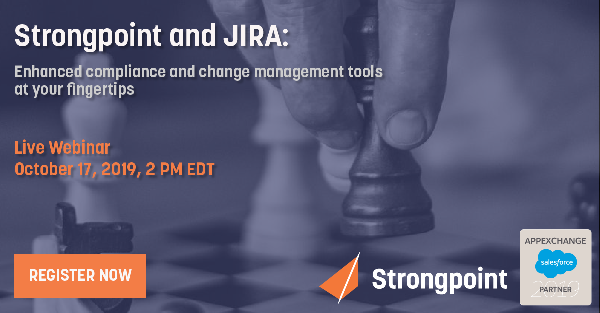 Smarter, seamless JIRA ticketing - In large organizations, JIRA is an indispensable tool for managing service and change requests. With Strongpoint's Salesforce documentation capabilities at your fingertips, you can use it even more effectively.