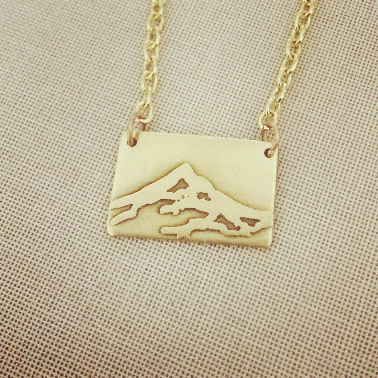 Mini Mount Hood Etched Necklace