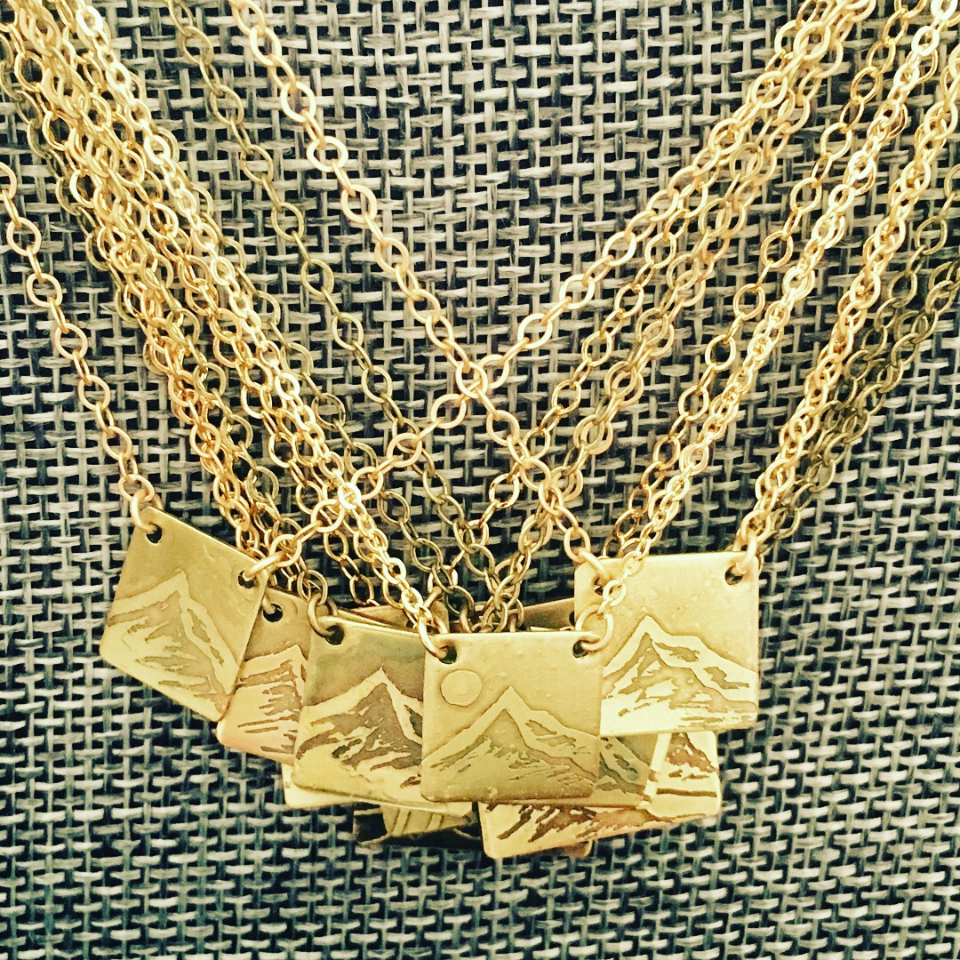 Mini Mount Hood Etched Necklaces