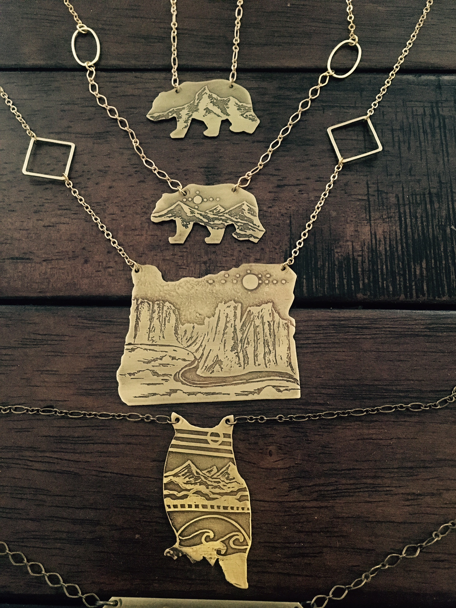 Cutout Necklaces