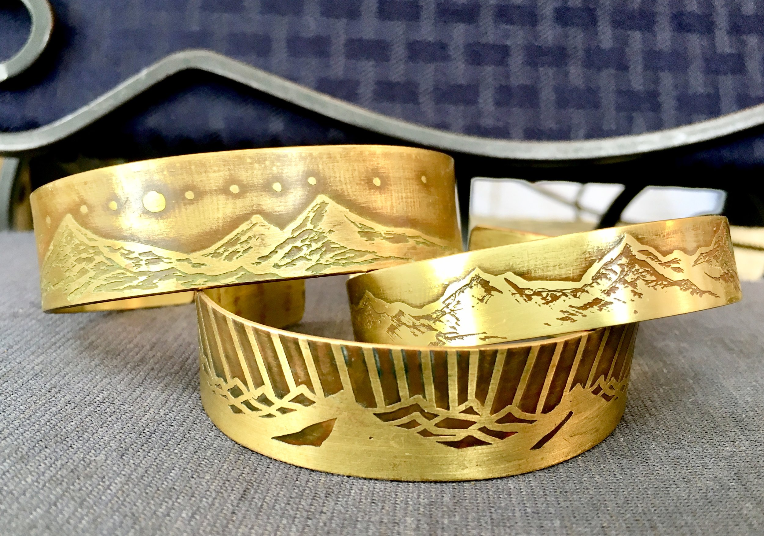 Mountain Range Bracelet Cuffs