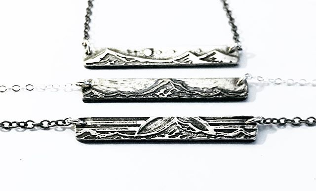 Finally, we have some amazing news...we are able to create our designs in ✨Sterling Silver ✨  The first few of these will be available @portlandsaturdaymarket this weekend!  Space 705 Saturday 10-5pm Sunday 11-4:30pm  #silvernecklace #landscapejewelry #barnecklace #mthood #threesisters #sterlingsilvernecklace #pakhyegoods #portlandsaturdaymarket