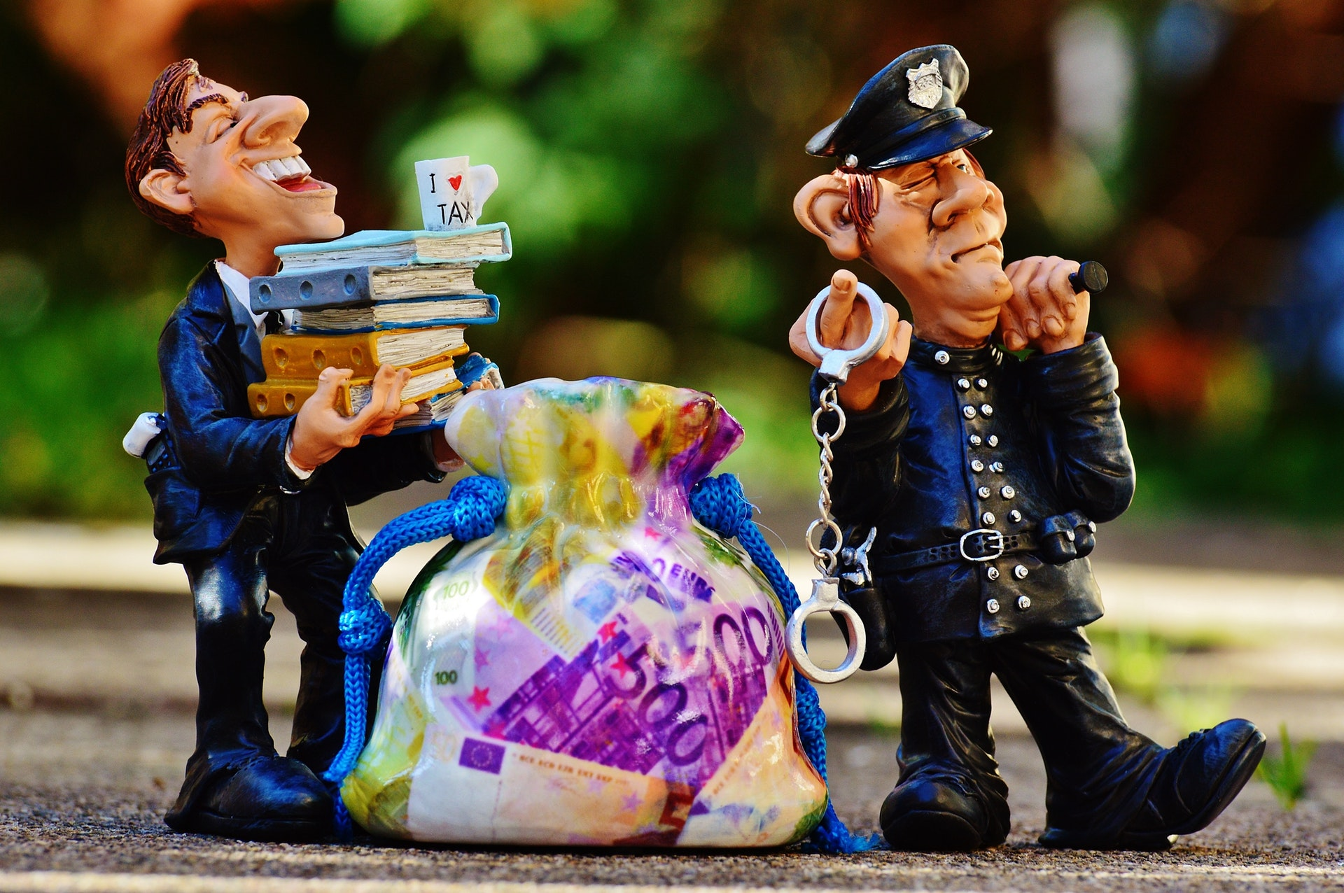 Carrying all that money must be taxing work for HMRC  (image by    Djordje Petrovic   )